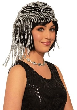 Silver Beaded Headpiece