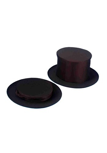 Adult Collapsible Black Top Hat Accessory