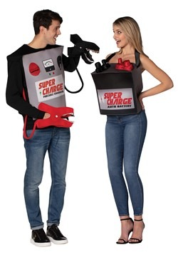 Adult Battery & Jumper Cables Couple's Costume