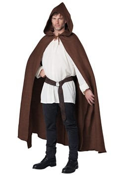 Adult Brown Hooded Cloak
