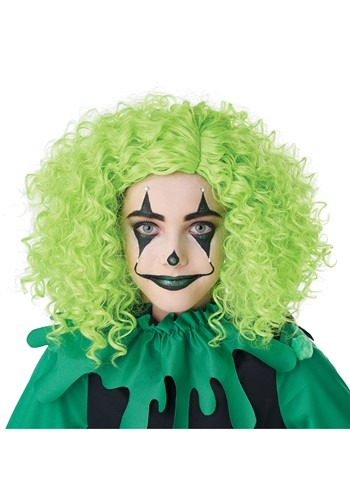 Corkscrew Clown Green Curls Wig