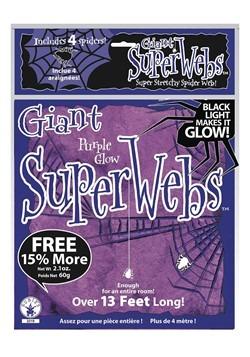 Purple Glow Spider Web Black Light Activated 60g