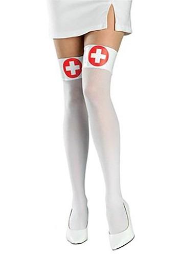 White Nurse Thigh Highs