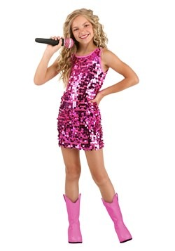 Girl's Pink Pop Singer Costume