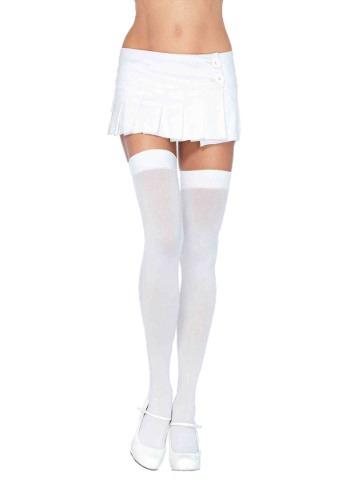 White Thigh High Stockings