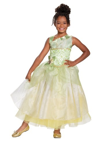 The Princess & The Frog Girl's Deluxe Tiana Costume