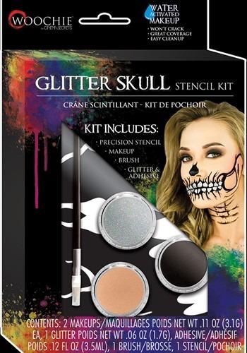 Glitter Skull Stenicl & Makeup Kit