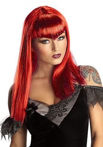 Adult Red Glitter Vampire Wig