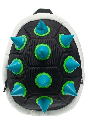 Black and Green Spiked Turtleshell Backpack
