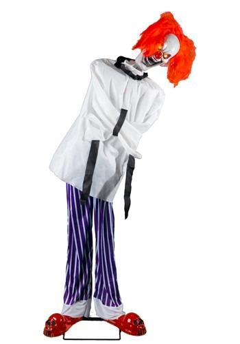 6.5' Animatronic Straight Jacket Clown Decoration