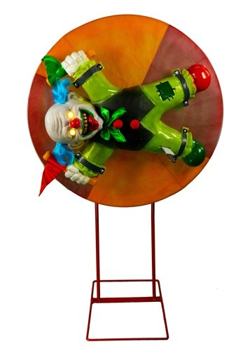 Animatronic Clown Wheel Of Death Decoration
