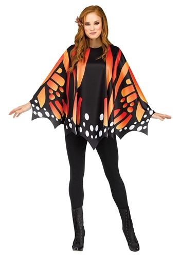Women's Monarch Butterfly Poncho