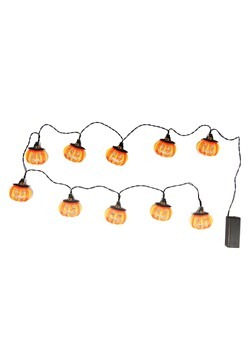 Jack-O Lantern 10 Light Indoor String Light Set