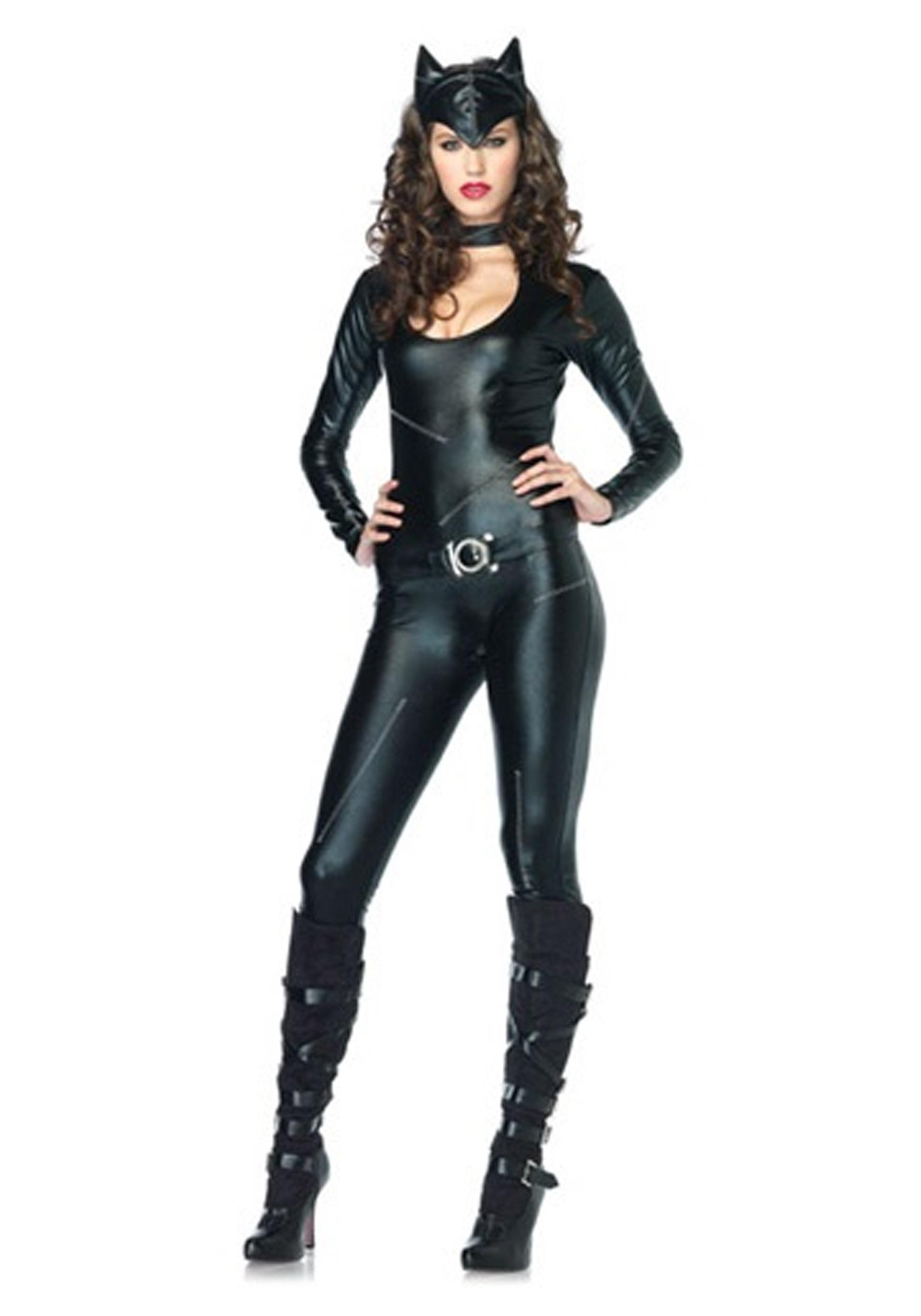 sexy feline catsuit costume. Black Bedroom Furniture Sets. Home Design Ideas