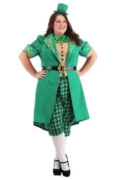 Womens Plus Charming Leprechaun Costume