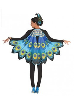 Printed Peacock Wings