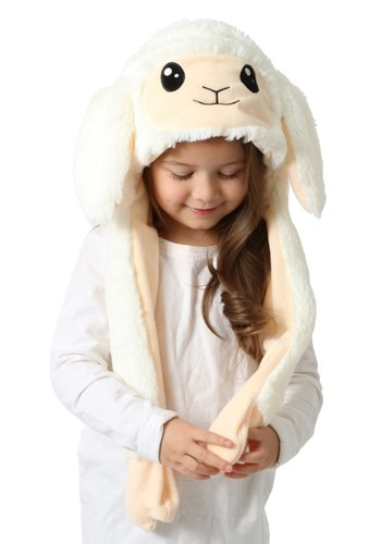 Moving Ears Sheep Plush Hat