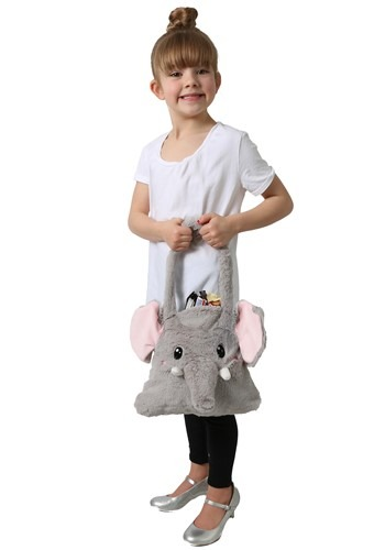 Moving Ears Elephant Plush Trick or Treat Bag