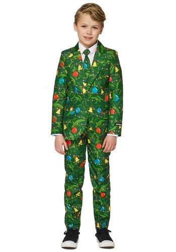 Boy's Green Christmas Tree Light Up Suit