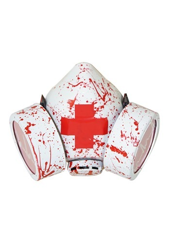 Bloody Red Cross Gas Mask