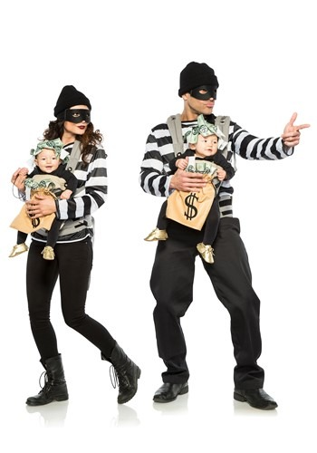 Infant Robbery & Money Bag Costume