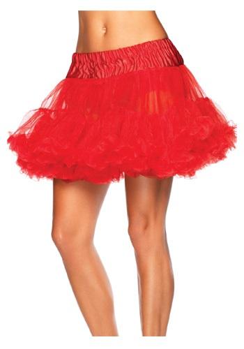 Plus Size Red Tulle Petticoat