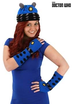 Dalek Knit Arm Warmers Blue