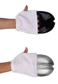 Unicorn Costume Front Hooves Silver
