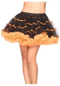 Orange and Black Tulle Petticoat
