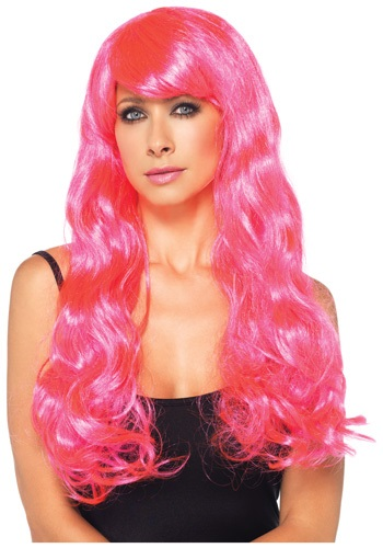 Neon Pink Long Wig