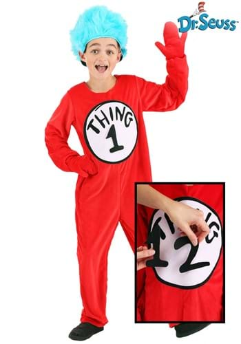 Thing 1 2 Costume for Kids