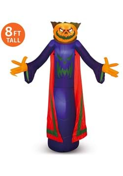 Inflatable 8ft Pumpkin Wizard