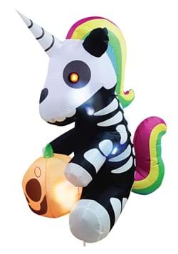 5 Foot Inflatable Sitting Skeleton Unicorn Decoration