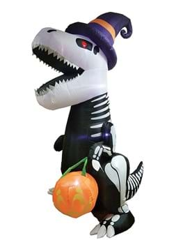 8 Foot Inflatable Skeleton T Rex Decoration