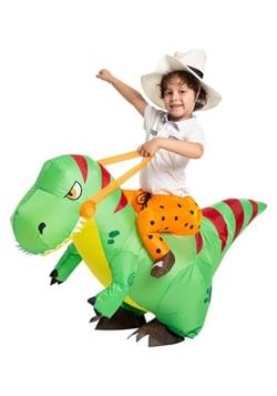 Inflatable Kids T Rex Ride On Costume