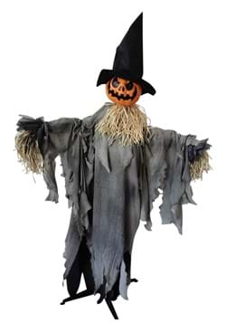 Animated 6 FT Standing Pumpkin with Hat