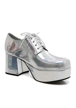 Mens Silver Hologram Pimp Shoe