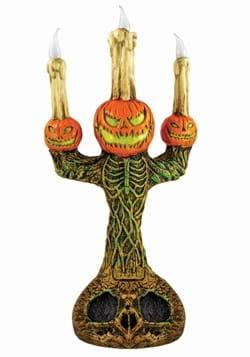 "14"" Creepy Pumpkin Candelabra"