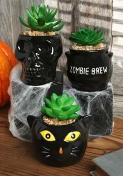 Cauldron, Cat & Skeleton Halloween Succulent Planter Set_Upd