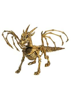 "7"" Gold Skeleton Dragon"