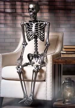 """60"""" Gun Metal Life Size Posable Skeleton Prop"""
