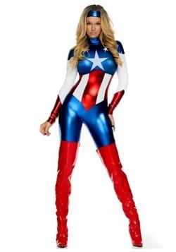 Womens Plus American Beauty Superhero Costume