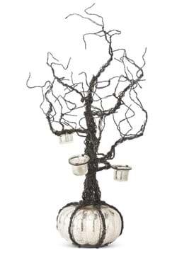 "28"" Black Wire Votive Tree w/LED Mercury Pumpkin B"