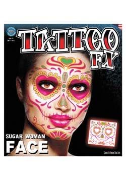 Sugar Woman Face Tattoo