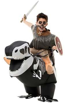 Skeleton T Rex Ride On Inflatable Kids Costume