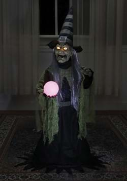 36 Inch Fortune Teller Witch Animated Prop