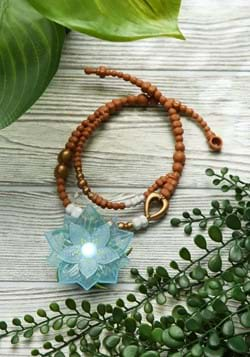 Raya and the Last Dragon Dragon Flower Light Up Necklace
