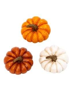 "Set of 3 Resin 3"" Pumpkins"