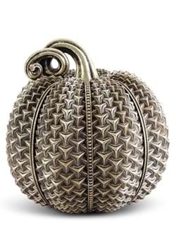 "11.5"" Resin Antique Gold Raised Arrow Textured Pumpkin"