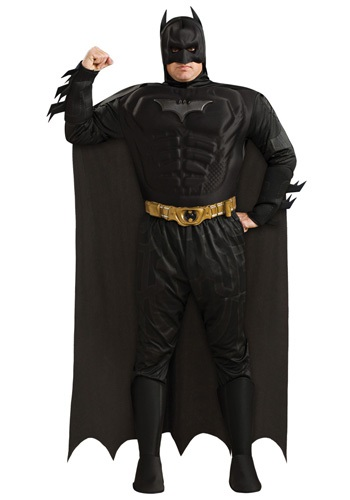 Mens Plus Size Batman Costume